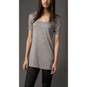 Burberry Jersey Tee With Bow Detail Grey